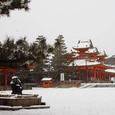 平安神宮 雪世界