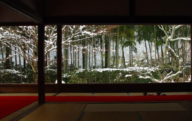 宝泉院 額縁の庭 雪
