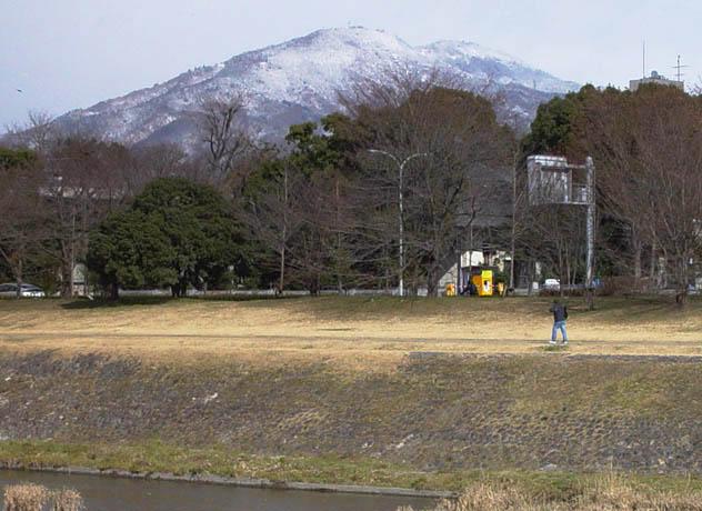 比叡山 雪雲の比叡山