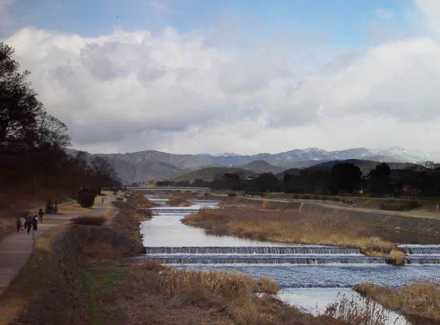 賀茂川 葵橋から北山方面