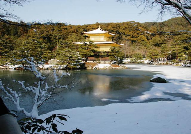 金閣寺 雪2